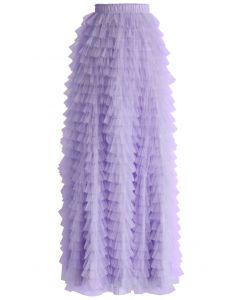 Swan Cloud Maxi Skirt in Purple
