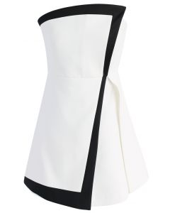 The Ode to Trendy Flap Dress in White
