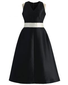 Captivating Black V-neck Prom Dress