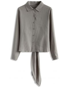 Distinctive Appeal on Back Shirt in Taupe