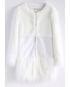 Snow Memory Faux Fur Coat in White