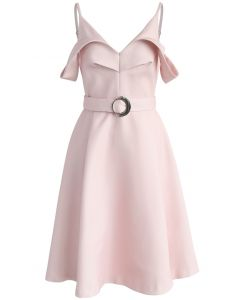 Infinite Adore Cold-shoulder Dress in Pink