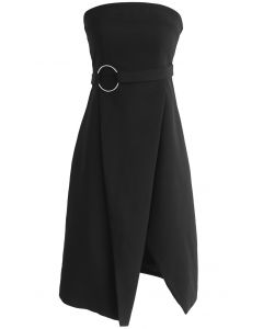 In Love with Classic Strapless Dress in Black