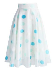 Refreshing Dots Organza A-line Skirt