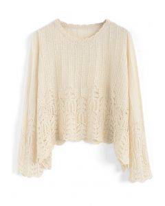 Get Closer to Leisure Knit Top in Cream