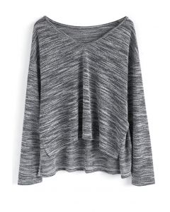Neutral Marble Knit Top