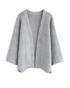 Comfortable Free Time Knit Cardigan in Grey