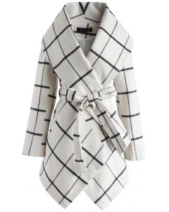 Prairie Grid Rabato Coat in White