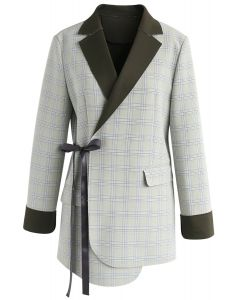 Extraordinary Wrap Check Blazer