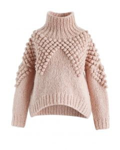 As Peppy As You Are Pom-Pom Turtleneck Sweater