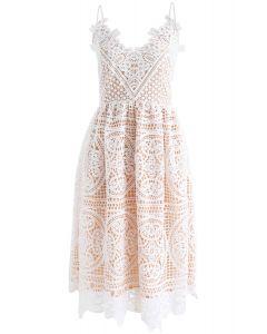 Moonlit Night Cross Back Crochet Cami Dress