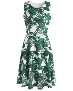 Dreaming of Monstera Crop Top and Skirt Set
