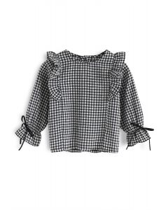 Best Love For You Gingham Top For Kids