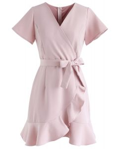 Simplify the Life Ruffle Dress in Dusty Pink