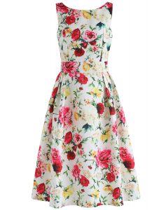 Opulent Roses Embossed Prom Dress