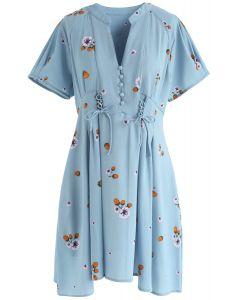 Rather Be Lovely Floral V-neck Dress