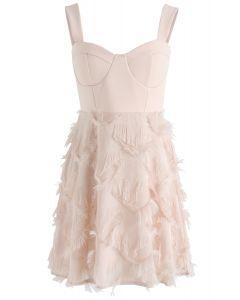 Shimmer Stars Tassel Dress in Pink
