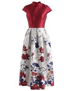 Flourish Revolution Floral Embossed Prom Dress