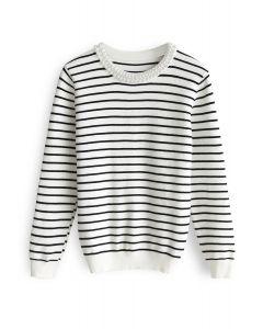 Gentle Softness Knit Top in Stripe
