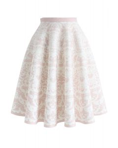 Tenderness Vision Airy A-Line Skirt in Pink