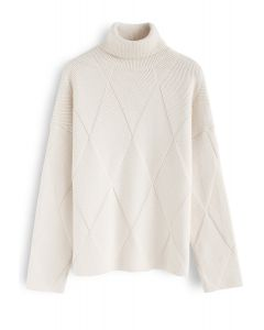 Well Prepared for Winter Knit Sweater in Cream
