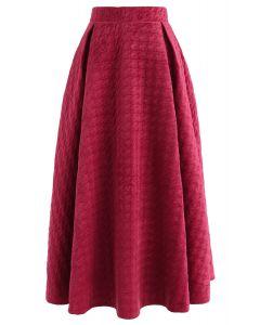 Festive Enjoyment Embossed Velvet Maxi Skirt