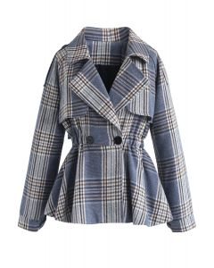 Give It to Me Plaid Waisted Coat