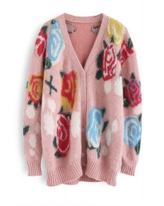 Embrace the Flowers Fluffy Knit Cardigan