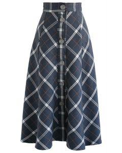 I Found A Dream Grid Midi Skirt
