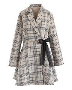 Prepared For A Date Plaid Coat Dress