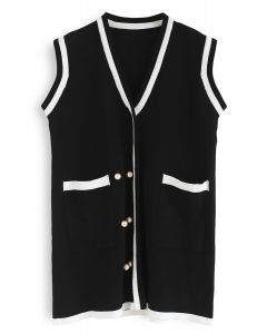 Used to Know Sleeveless Knit Dress in Black