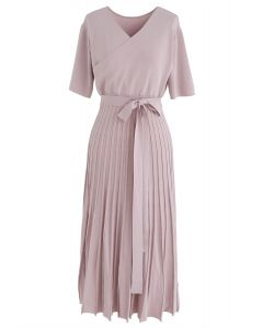 Effortless Charming Knit Dress in Pink