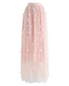 Florescent Dreams Mesh Skirt in Pink