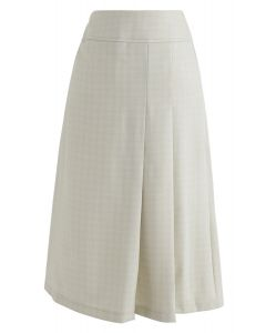 Favor the Feminine Pleated Midi Skirt in Cream