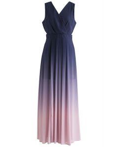 Gradient Revelry Sleeveless Maxi Dress in Purple