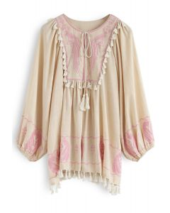 Bali Sunglow Tassel Embroidered Tunic