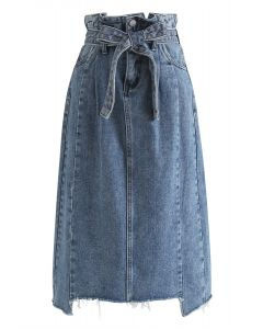 All You Ever Wanted Pencil Denim Skirt