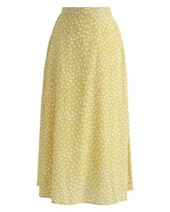 Something About Spot Chiffon Skirt in Yellow