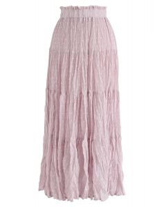 From Now On Dots Pleated Skirt in Pink