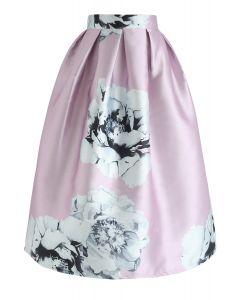 Embracing Grace Floral Print Midi Skirt
