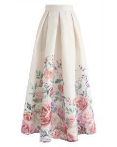 Easy Breezy Floral Organza Maxi Skirt