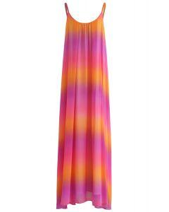 Summer Charmer Gradient Chiffon Cami Maxi Dress