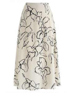 For the Best Floral A-Line Skirt