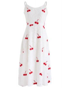 Cherry Secret Feather Cami Dress