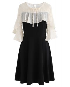 Yet to Come Chiffon Spliced Dress