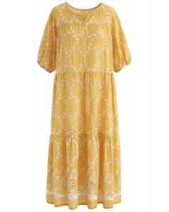 Save the Moment Eyelet Embroidered Dress