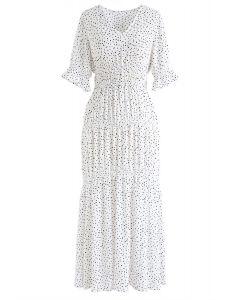 Feel This Moment Dots V-Neck Chiffon Dress