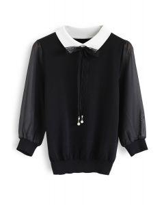 Wildest Dreams Knit Top in Black