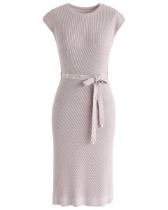 Staring At the Sunset Knit Dress in Lilac