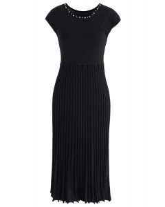Stand for You Knit Sleeveless Dress in Black